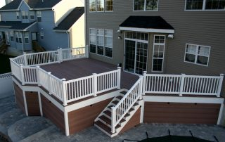 wood & white deck